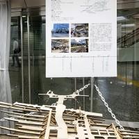 品川駅:駅模型と説明パネル